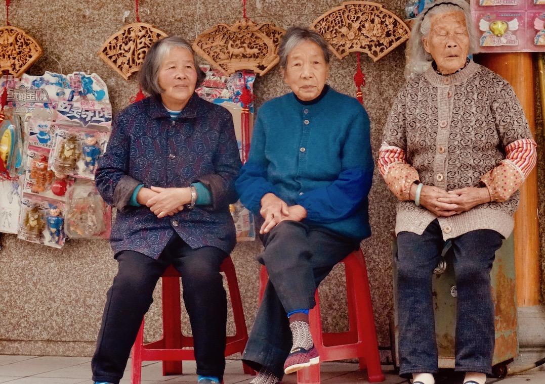 Local women Sixi Town Taishun County China.