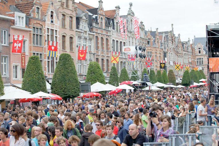 Marktrock Music Festival Leuven Belgium.