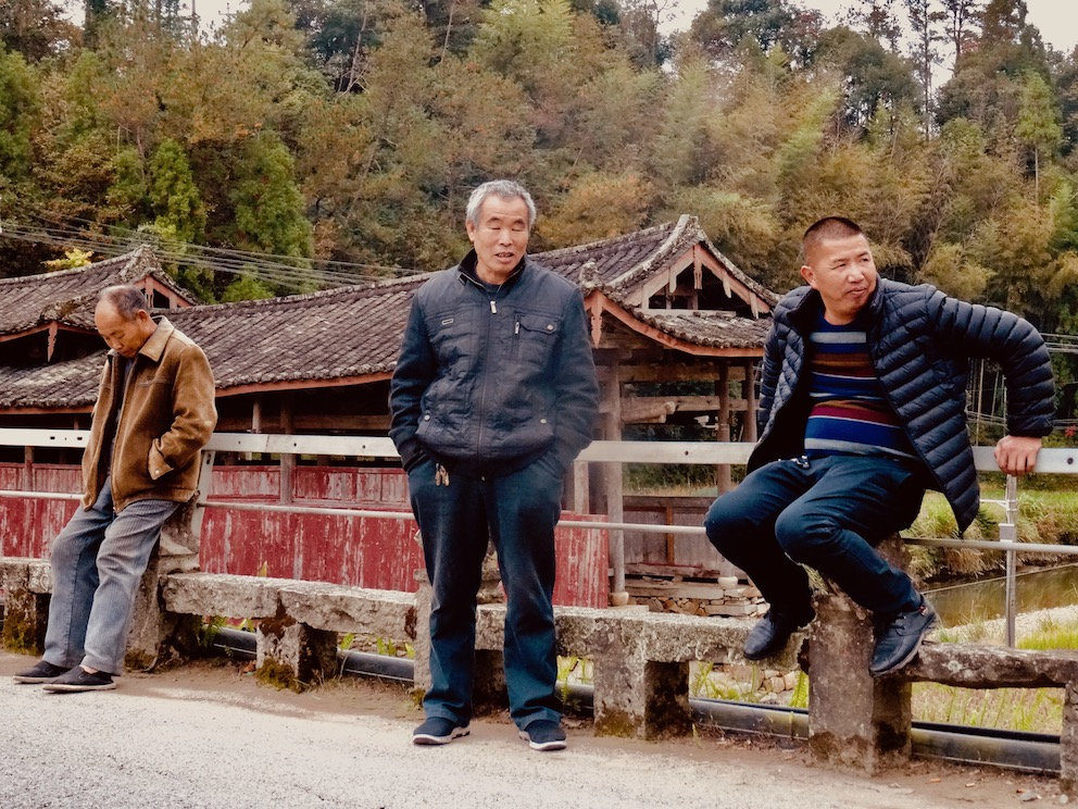 Old men Nanyang Bridge Taishun County China.