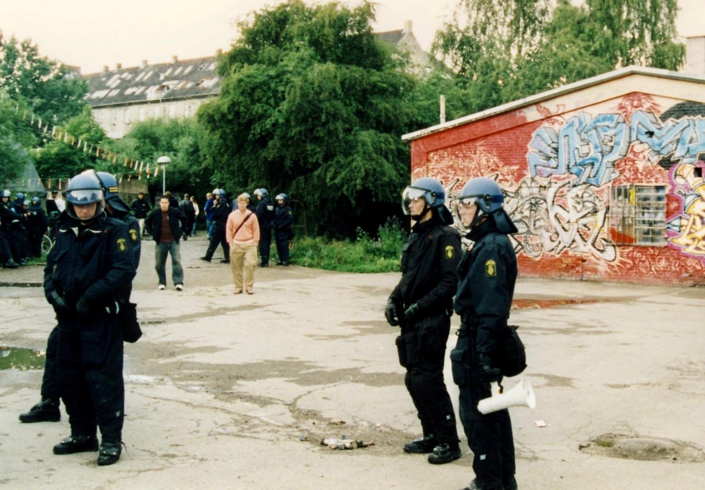 Police raid Freetown Christiana Copenhagen Denmark.