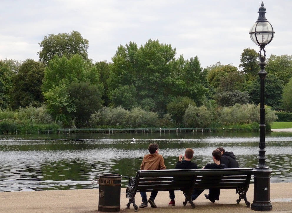 Serpentine Lake Hyde Park London.