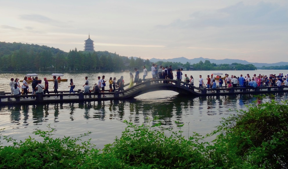 Shuangtou Bridge West Lake Hangzhou.
