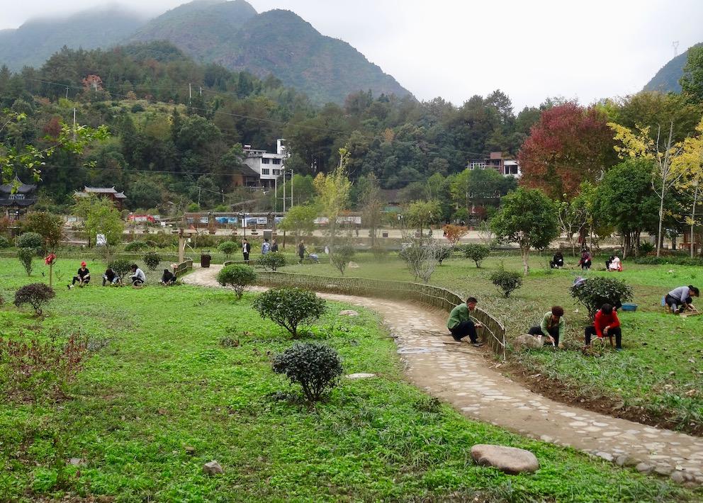 Sixi Town Park Taishun County China.