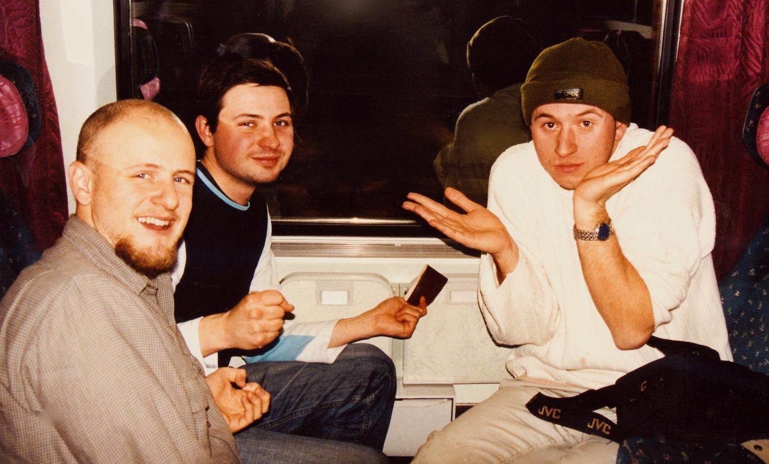 The train from Prague to Bratislava December 2002.