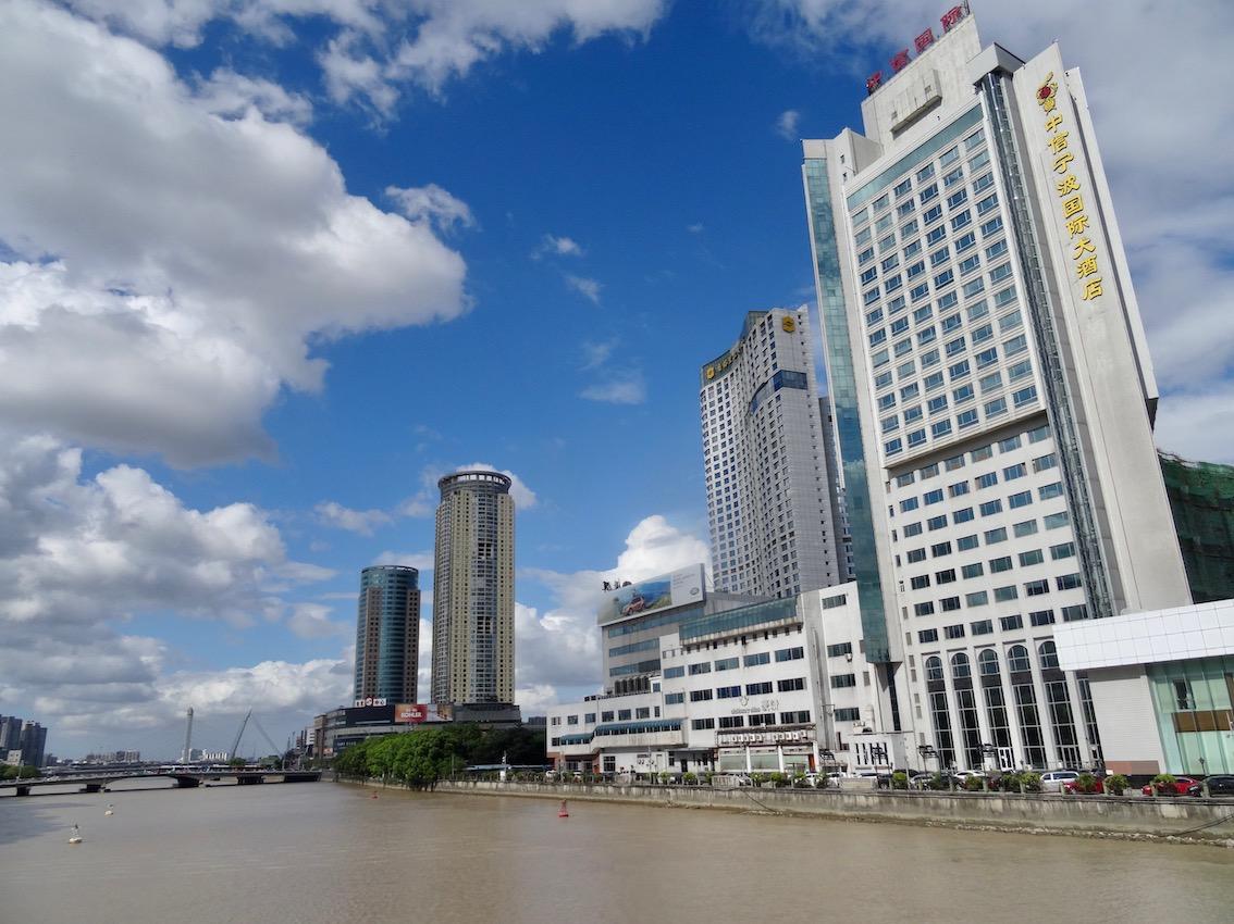 The Yong River Ningbo China.