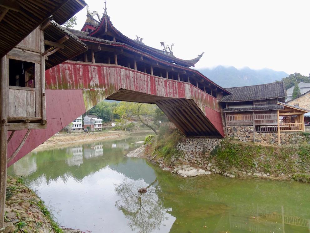 Visit Beijian Bridge Taishun County China.