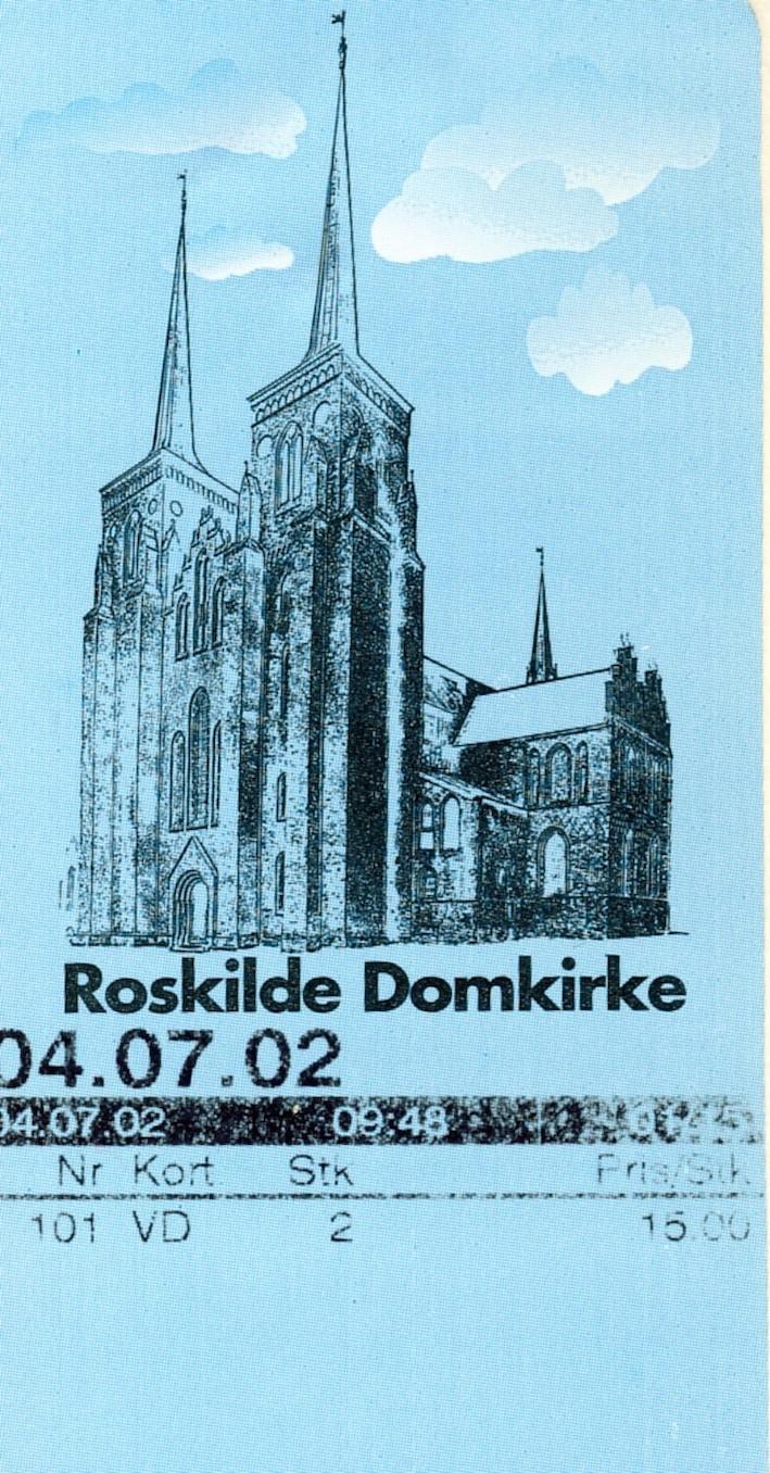 Visit Roskilde Cathedral Denmark.