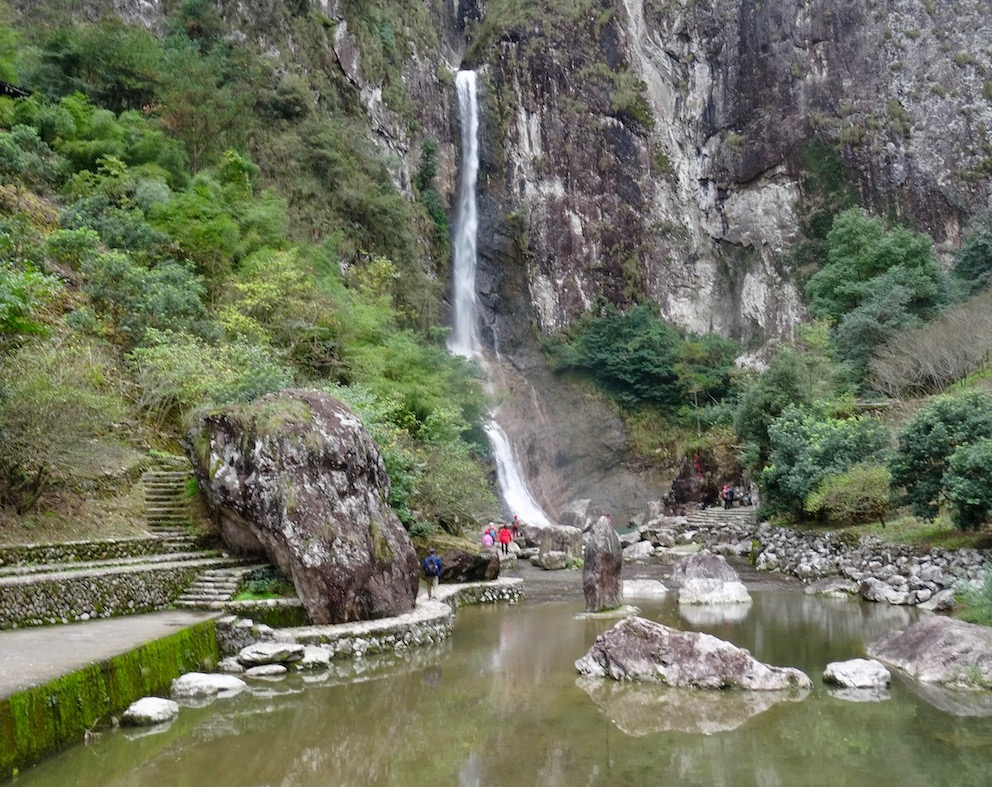 Waterfall Shu Yuan National Park Yongjia County China.