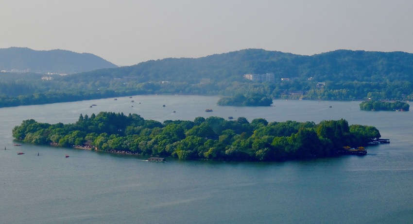 West lake views from Leifeng Pagoda Hangzhou.