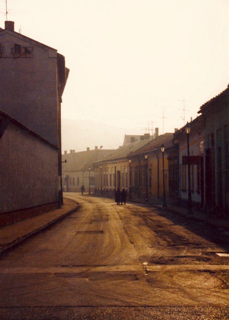 Deserted street Esztergom Hungary.