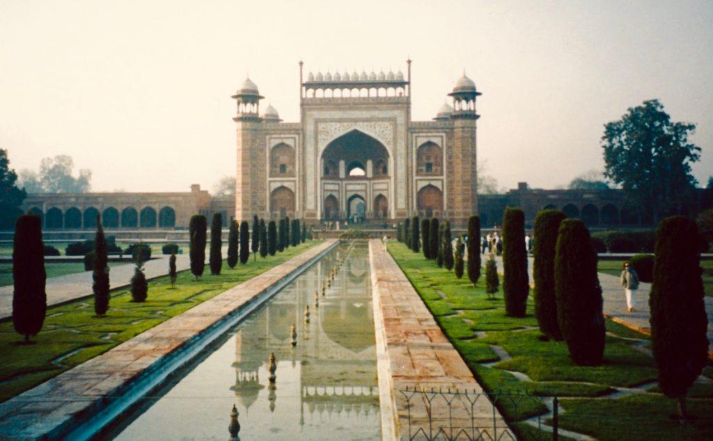 The Taj Mahal Garden Agra India.