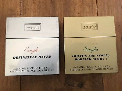 Oasis Limited edition singles cigarette boxes.