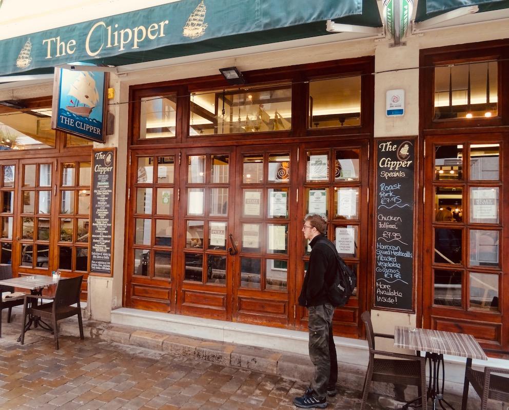 The Clipper Pub Irish Town Gibraltar.