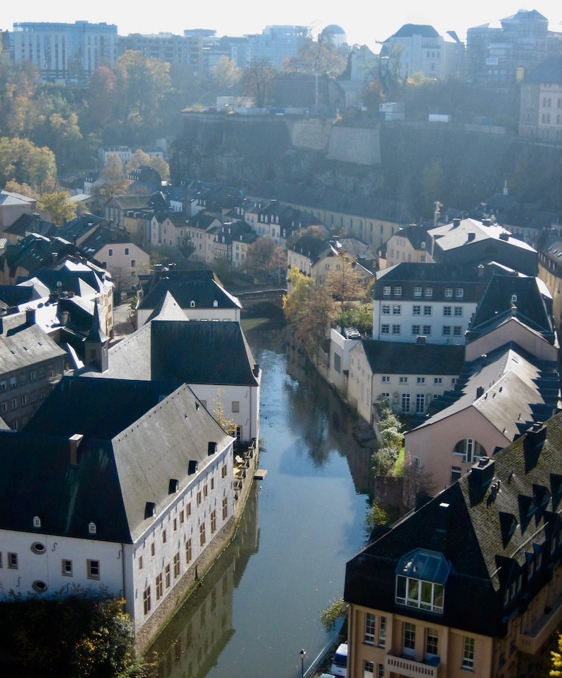 Alzette River Luxembourg City.