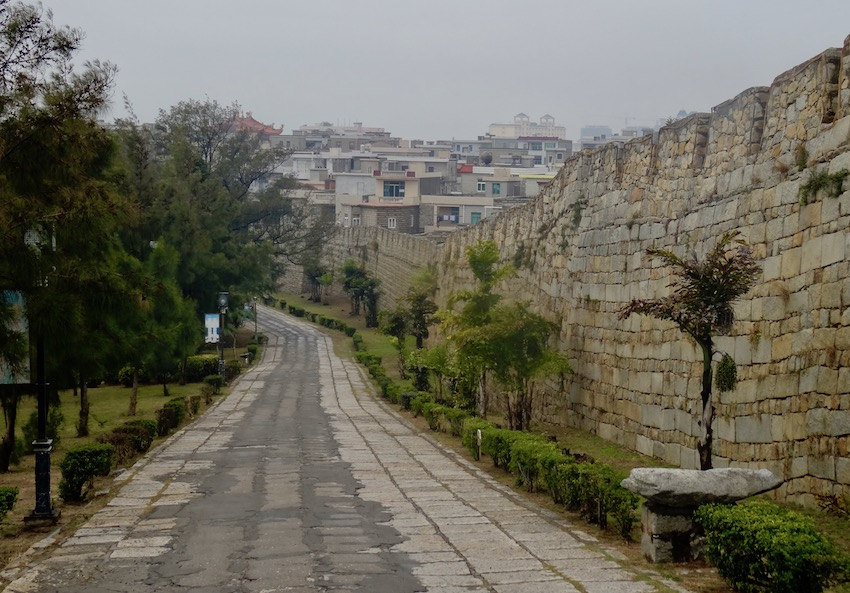 Ancient walls of Chongwu Fujian Province China.