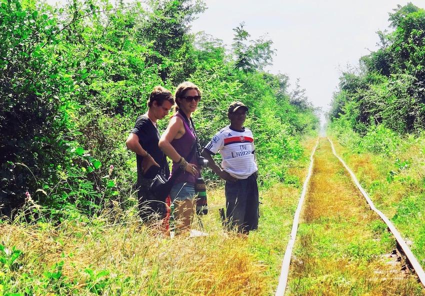 Battambang Bamboo train Cambodia.