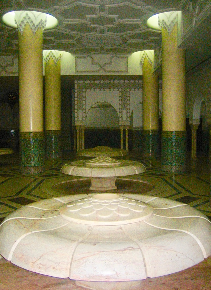 Hammam fountains Hassan II Mosque Casablanca.