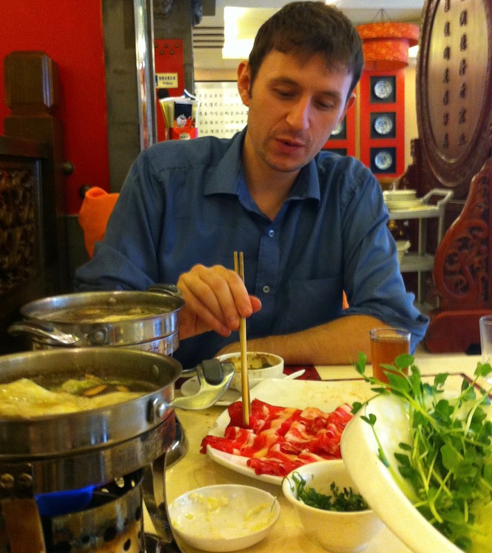 Hot pot restaurant Shangdi Beijing.