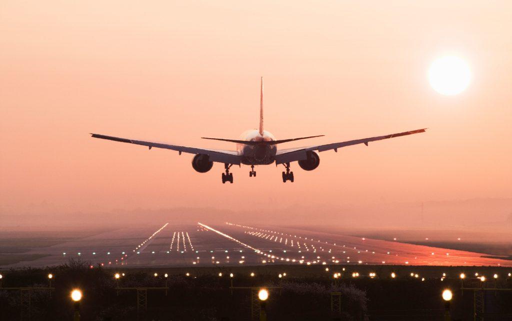 Landing plane.