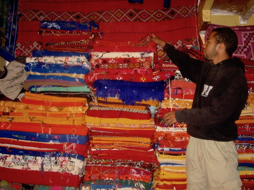 Rug vendor Marrakesh.