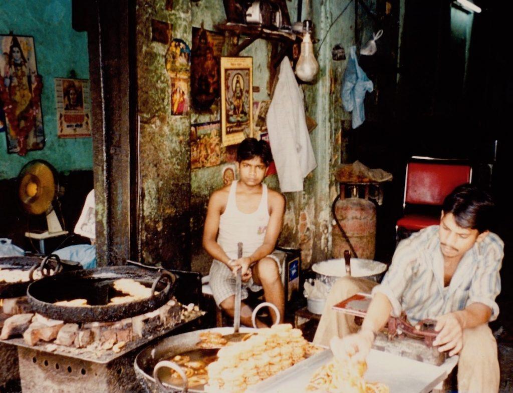 Street food vendors Paharganj New Delhi India.