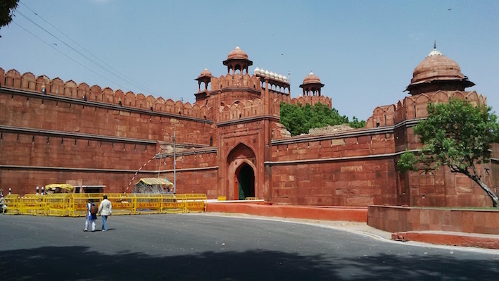 The Red Fort Lal Qila New Delhi India.