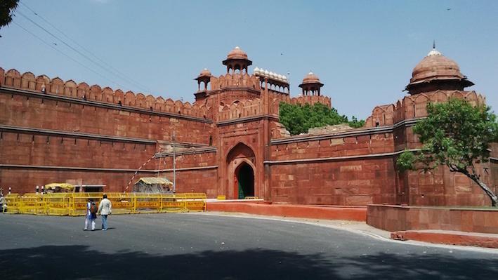 The Red Fort Lal Qila New Delhi India.