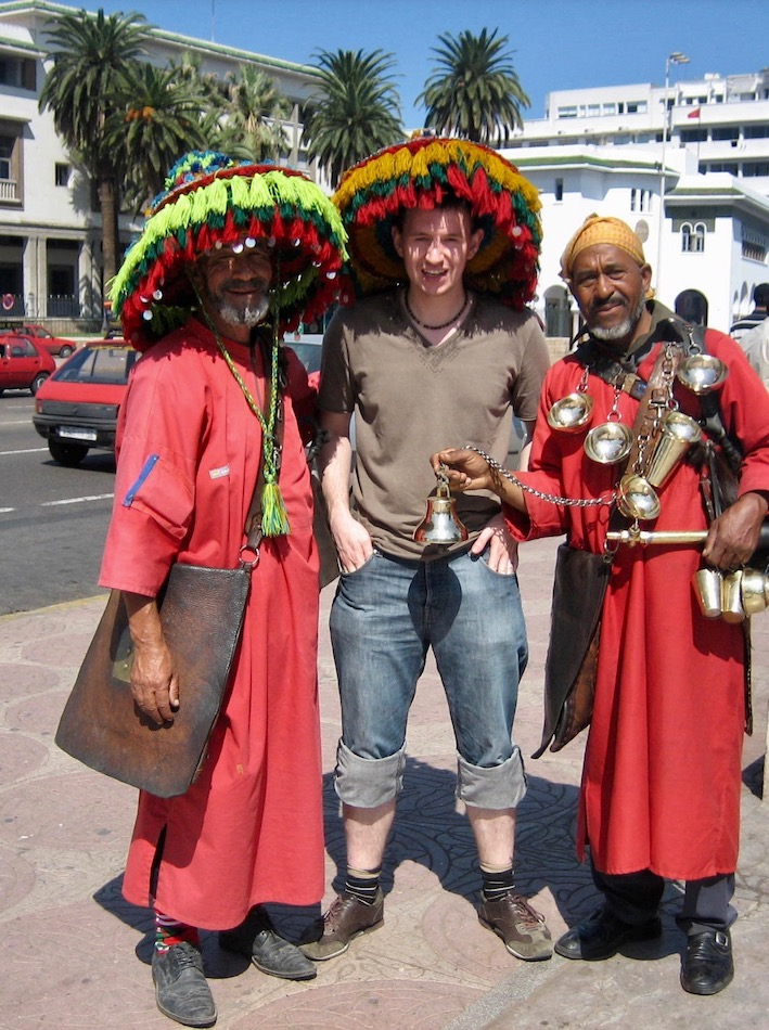 Traditional costume scammers Casablanca.