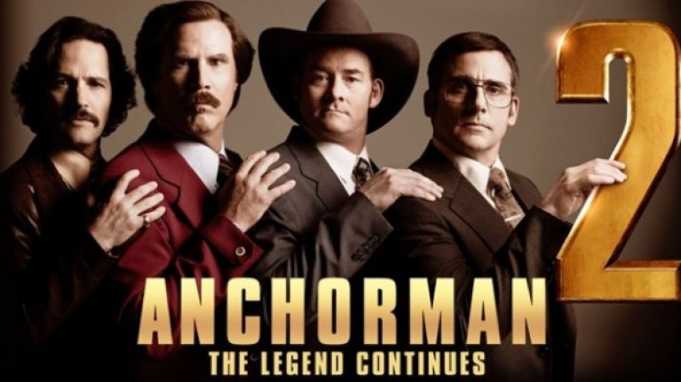 Anchorman 2 movie poster.