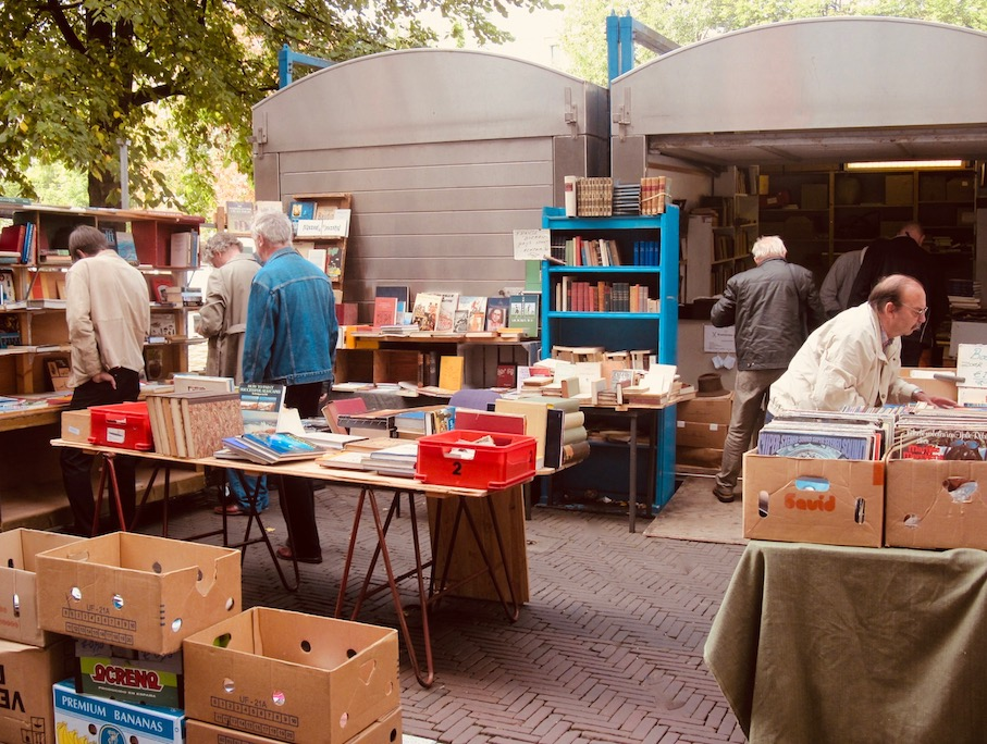 Book market Waterlooplein Amsterdam.