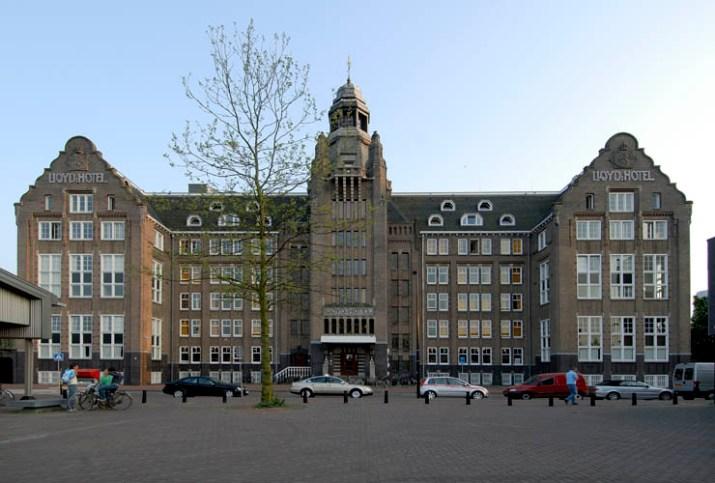 Exterior Lloyd Hotel Amsterdam.