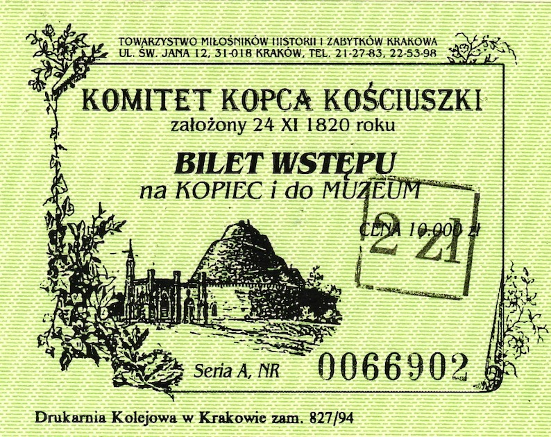 Kościuszko Mound Krakow Poland.