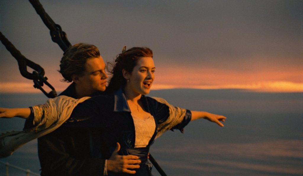 Leonardo DiCaprio and Kate Winslet Titanic.