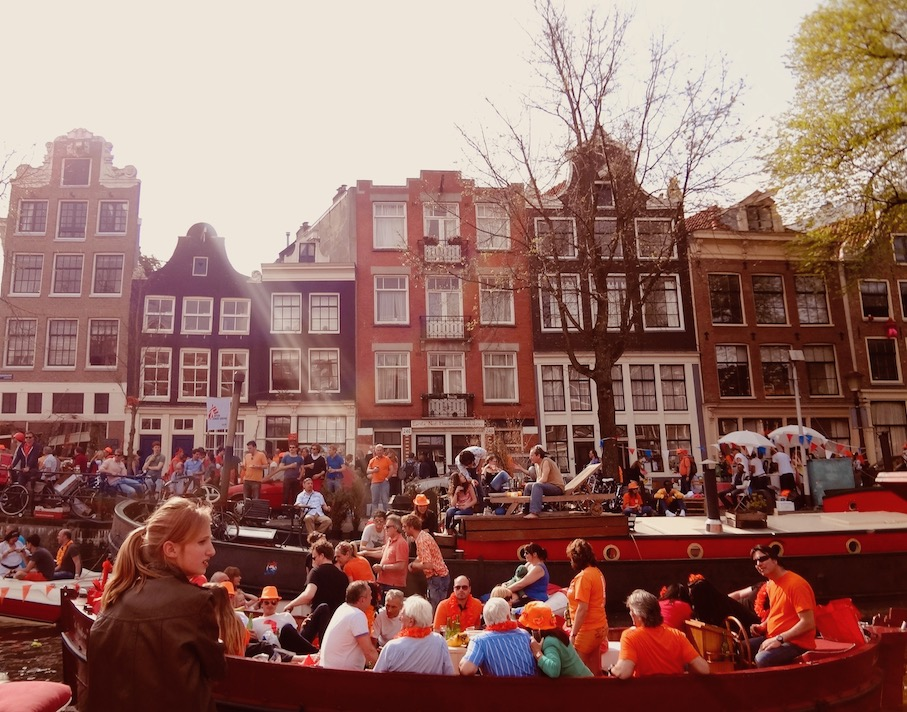 Queen's Day in Amsterdam.