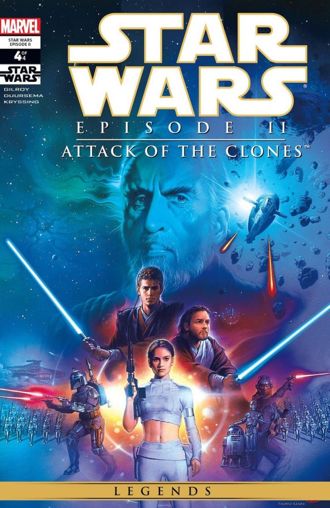 Star Wars Attack of the Clones movie poster.