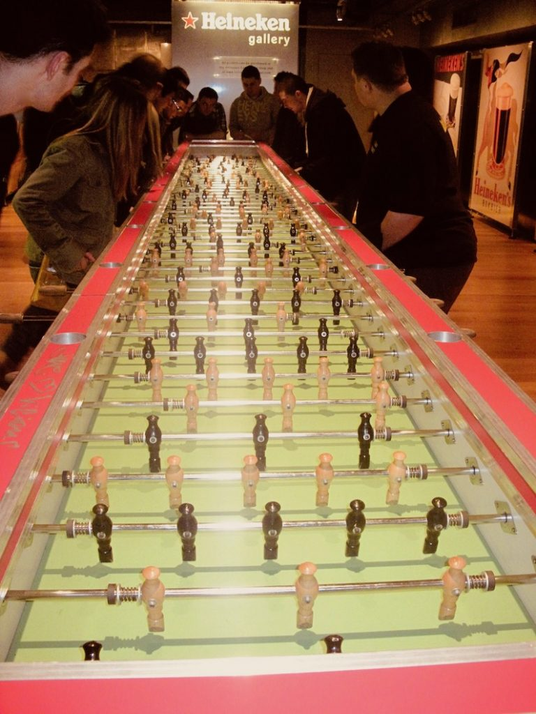 Table football The Heineken Experience Amsterdam.