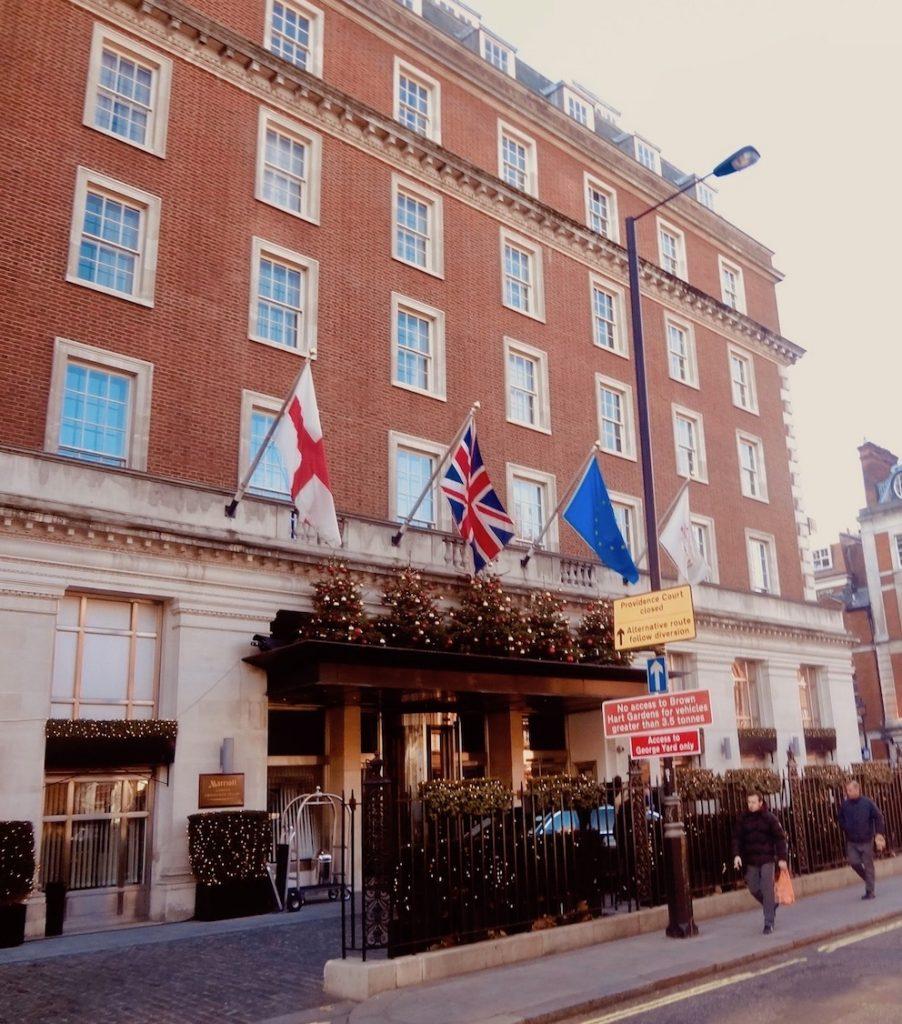 The Marriott Hotel Grosvenor Square London.