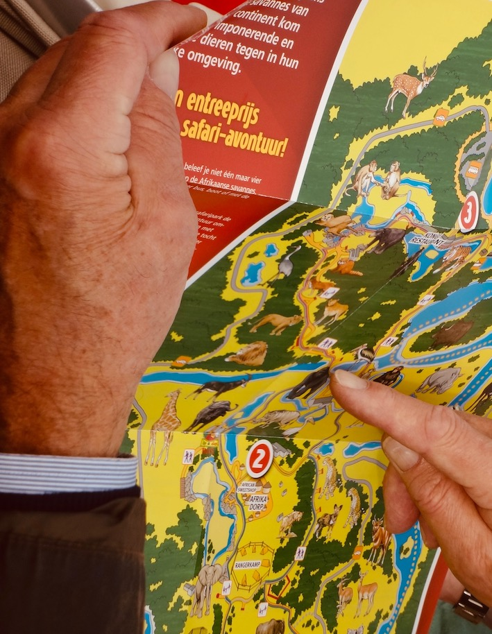 Visitor's map Beekse Bergen Safari Park The Netherlands.