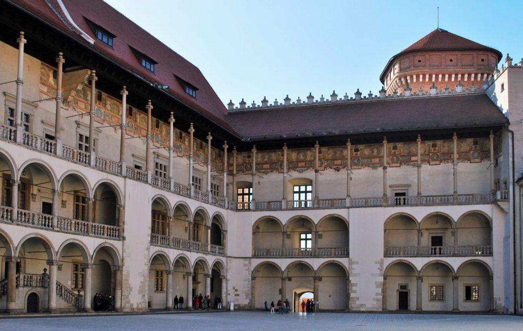 Wawel Castle Renaissance Courtyard Krakow.