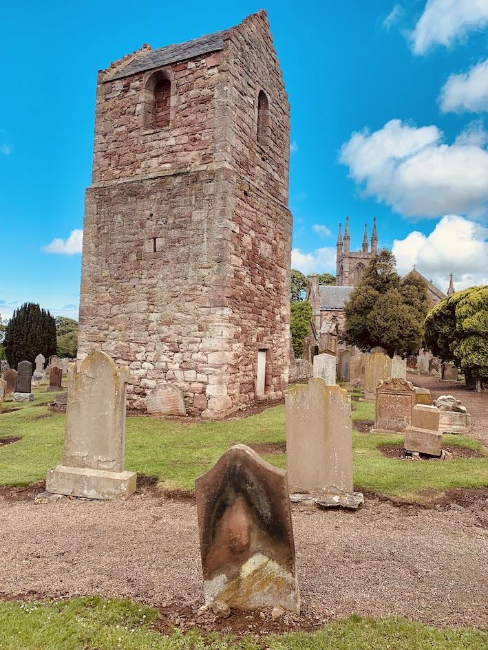 16th century ruins Stenton Parish Church Scotland.