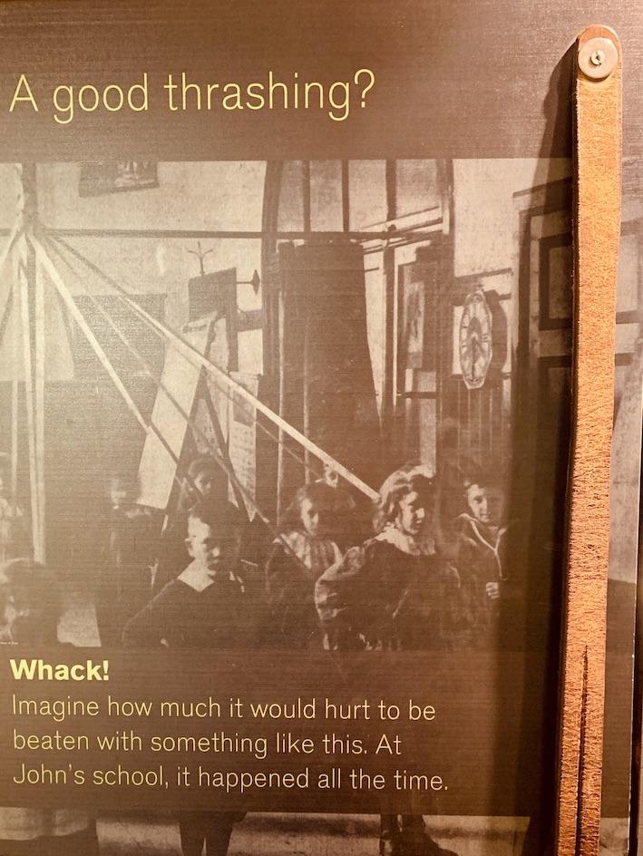 A tough upbringing John Muir's Birthplace Dunbar Scotland.