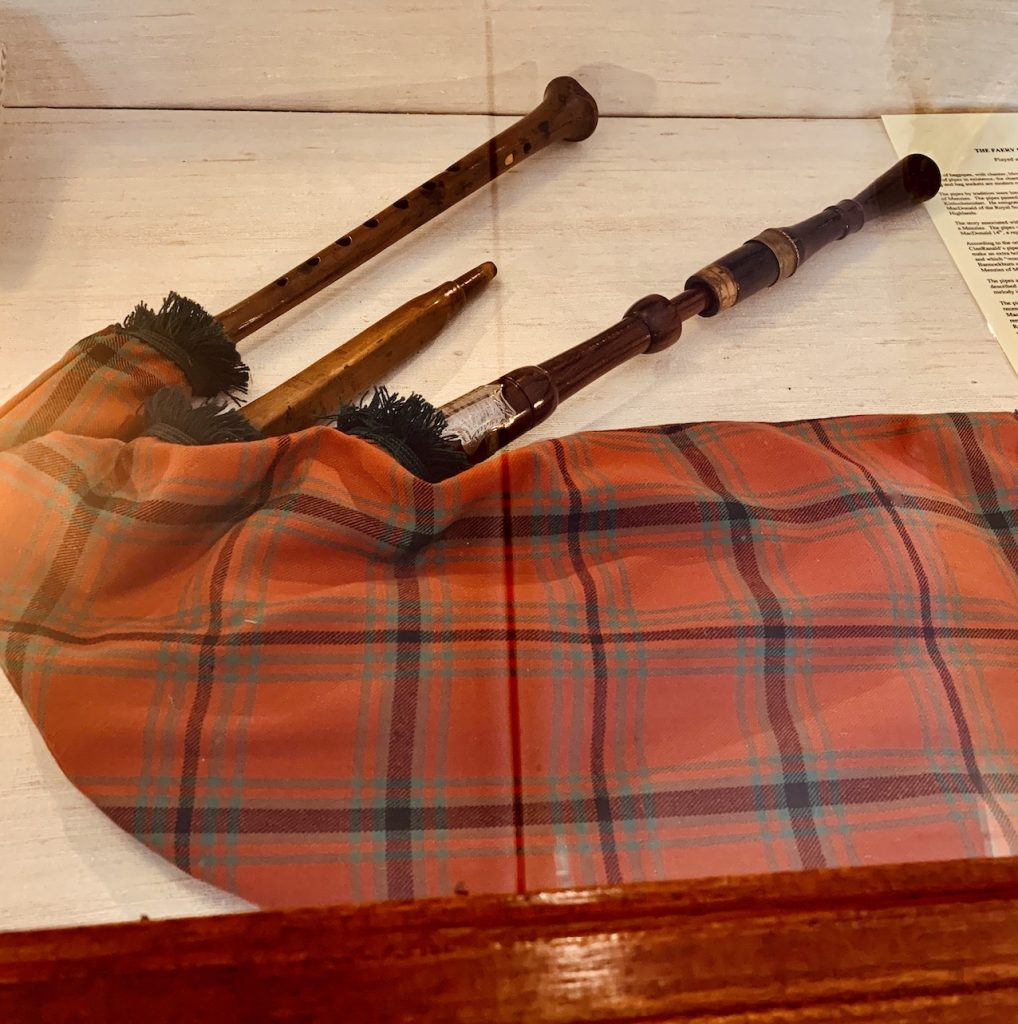 Ancient bagpipes West Highland Museum Scotland.