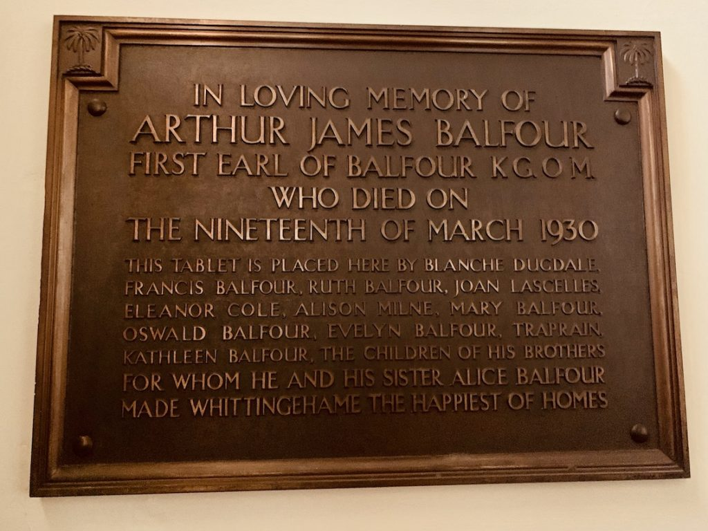 Arthur James Balfour Memorial Whittingehame Church Scotland.