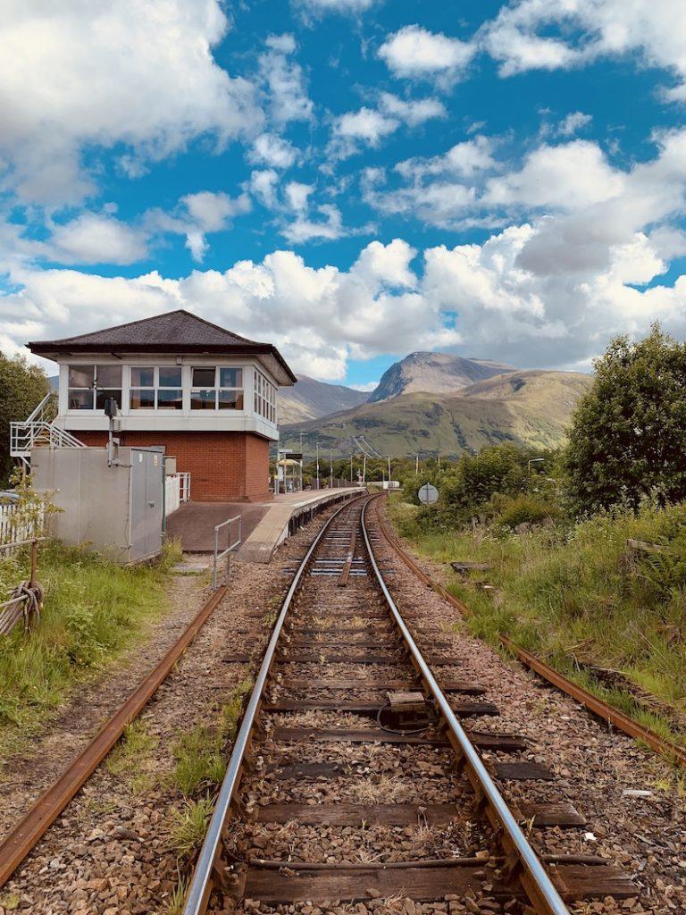 Banavie Train Station Scotland.