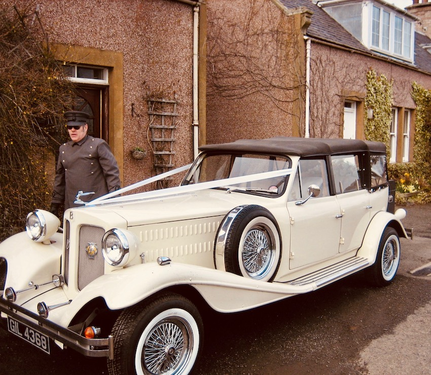 Barry's Bridal Classic Cars The Scottish Borders.