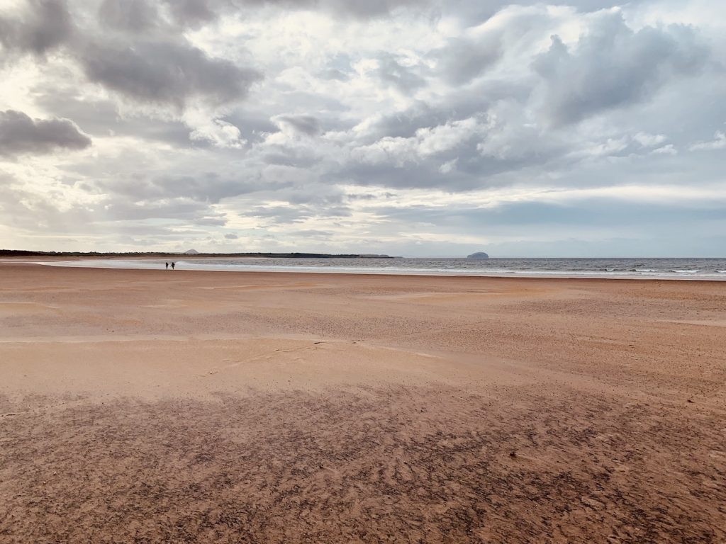 Beautiful Belhaven Beach Dunbar Scotland.