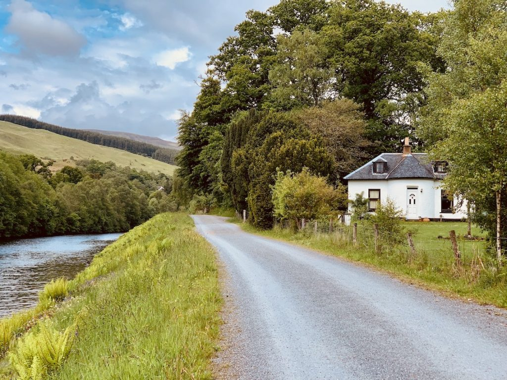 Beautiful house on The Great Glen Way Scotland.