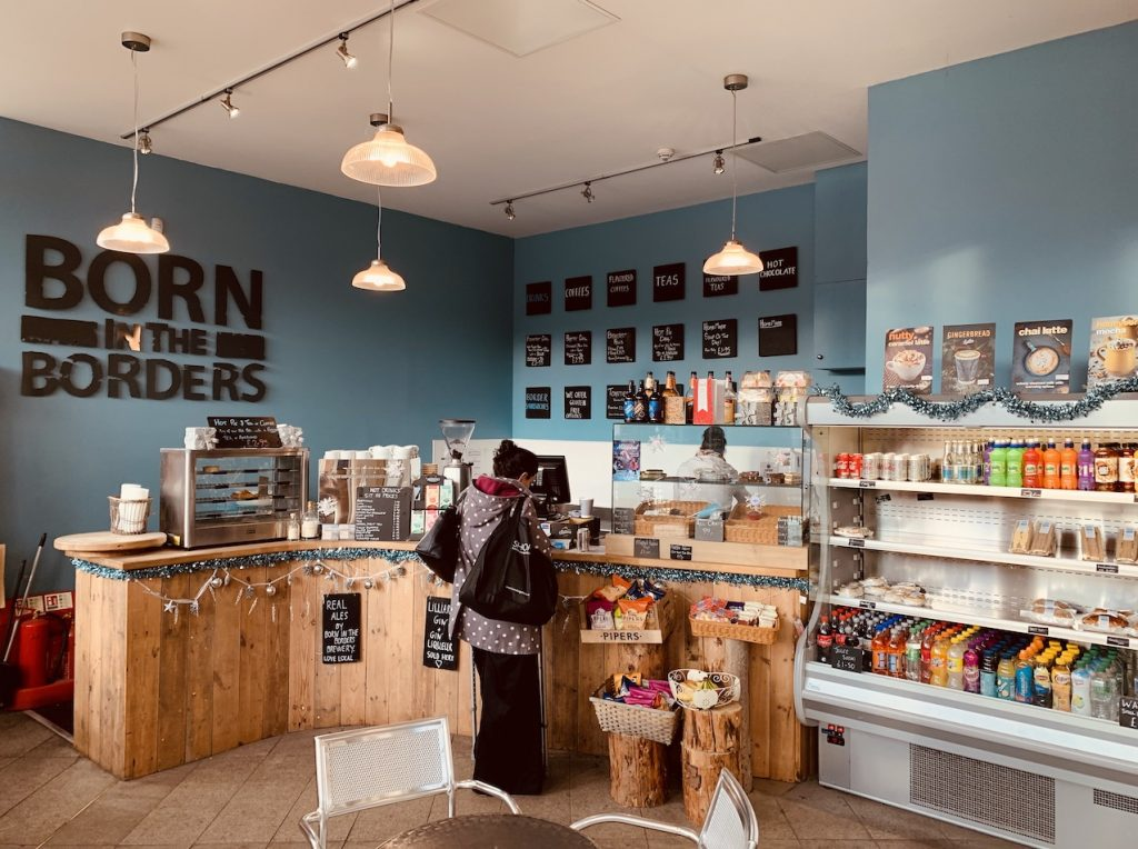 Born in the Borders Cafe Galashiels Scotland.