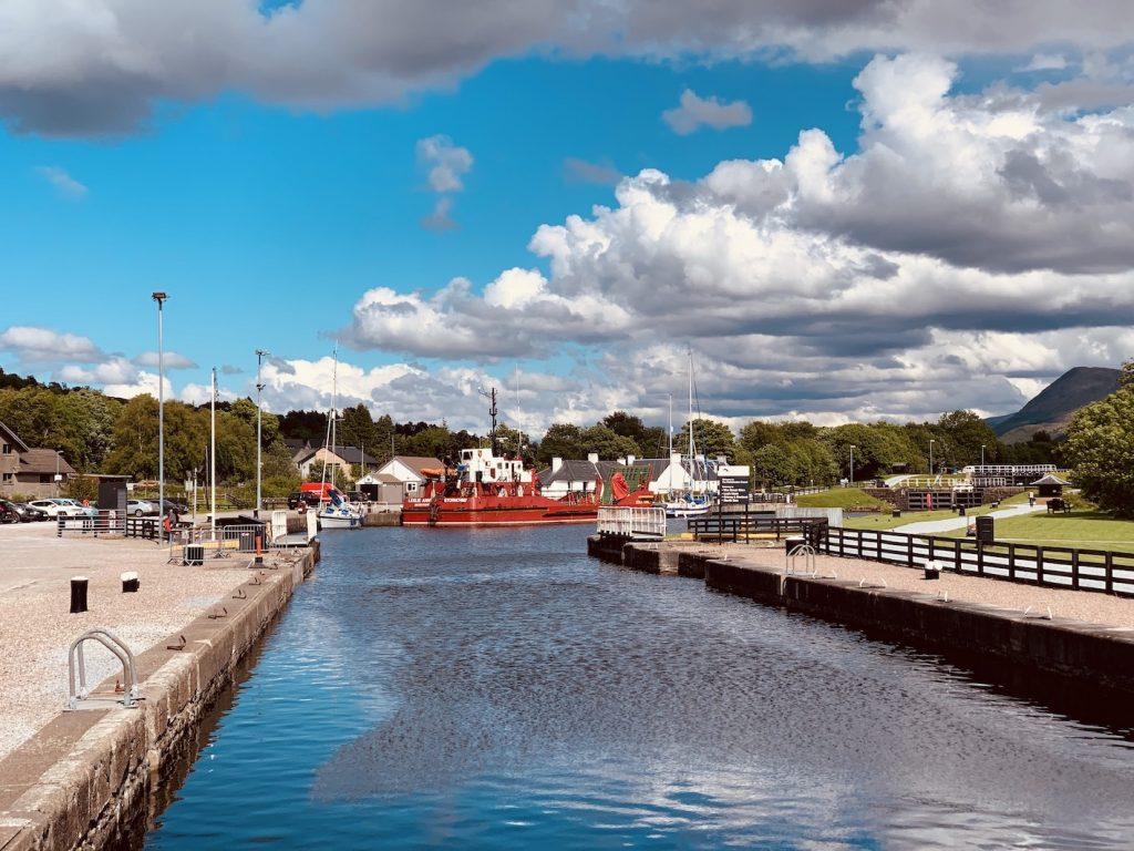 Caledonian Canal Corpach Sea Lock.