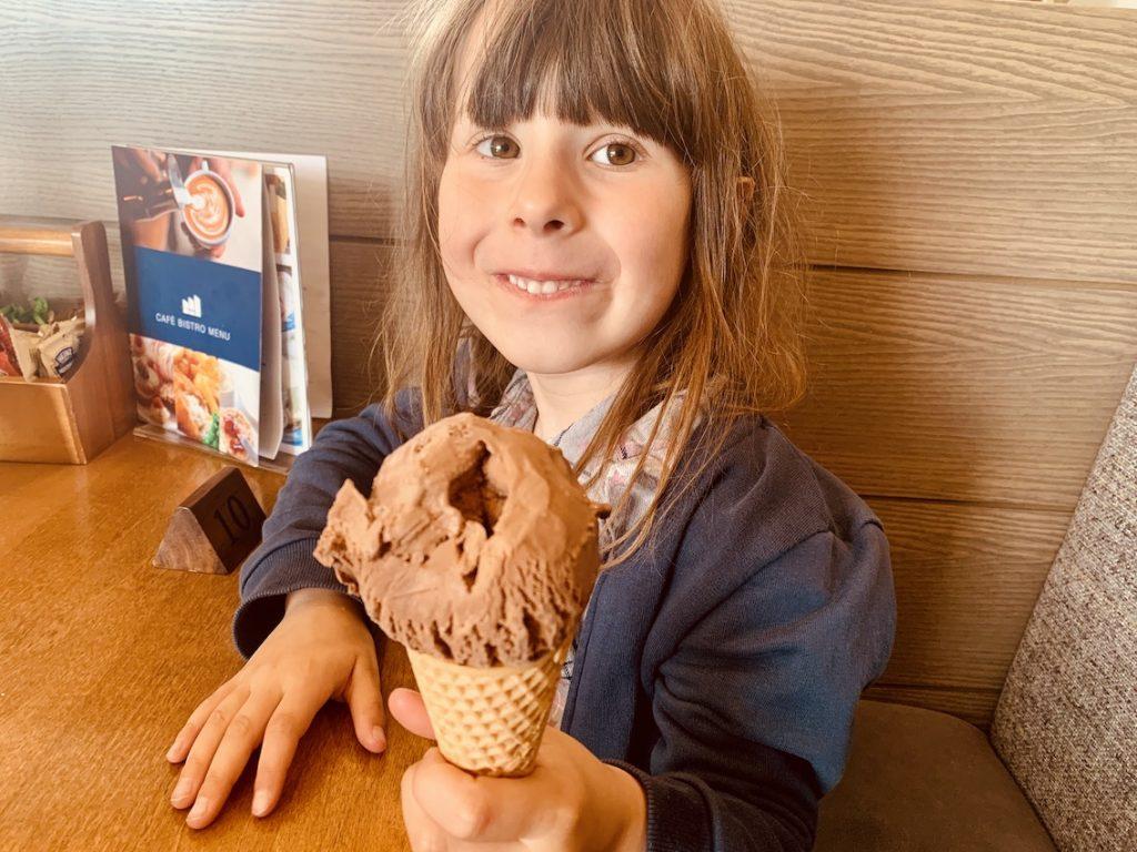 Chocolate ice cream Moorings Hotel Bistro Scotland.